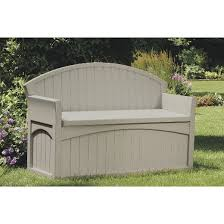patio storage bench 50 gallon taupe suncast target