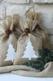 burlap gift bags burlap gift bags white christmas tree set of four 7 x