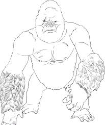 king kong coloring pages bestofcoloring