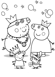 coloring pages for kids free images peppa pig and george free