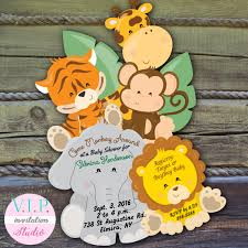 jungle baby shower invitations safari baby shower invitation