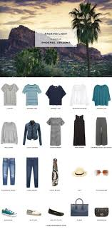 What to pack for phoenix arizona packing light travel style