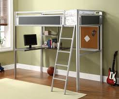 twin metal loft bed with desk and shelving metal loft bed with desk jukem home design
