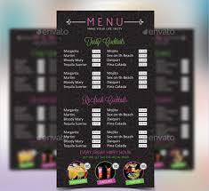 cocktail menu template u2013 49 free psd eps documents download