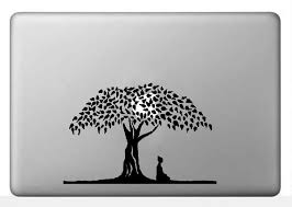 buddha the bodhi tree vinyl decal buddhist symbol