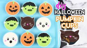 halloween cupcake liners how to make halloween pumpkin cups youtube