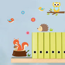 removable waterproof forest animals wall stickers cute cartoon owl removable waterproof forest animals wall stickers cute cartoon owl hedgehog tortoise bird squirrel wall decal kids room decor sticker wall decal sticker