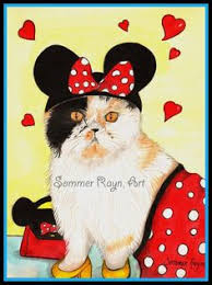 mickey minnie mouse watercolor card card size a6