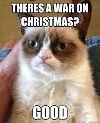 War On Christmas Meme - theres a war on christmas cat meme cat planet cat planet