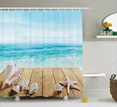 Beachy Shower Curtains Theme Shower Curtain Photogiraffe Me
