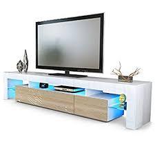 cuisine tv fr meuble tv bas lima v2 corps en noir façades en chêne brut vladon