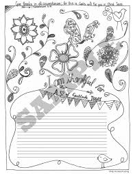 free gratitude journal template plus coloring page