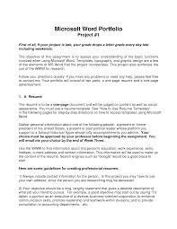 portfolio template word graphicstollcom201408the resume letter cover portfolio v 10html