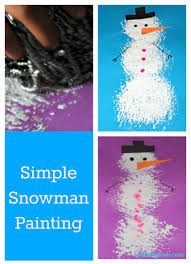snowman painting a winter craft idea for kids