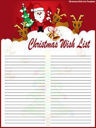 christmas wish list 10 christmas wish list templates word excel pdf templates