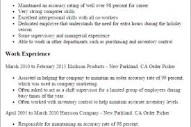 Warehouse Packer Resume Retail Sales Objective Resume Cover Letter For Customer Service