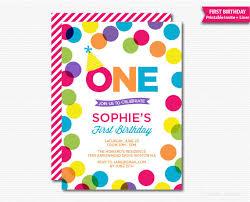 polka dots invitations colorful birthday invitation polka dots birthday