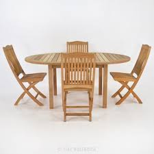 Teak Dining Room Furniture by Teak Dining Set Nova Round Wood Cafe Table And 4 Chairs Teak