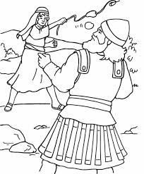 david and goliath coloring pages new theotix me