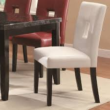 When White Leather Dining Chairs Amazon Com Coaster Home Furnishings Casual Dining Chair Chrome