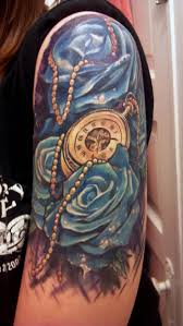 roses arm sleeve tattoo 108 best ink clocks compass and hourglass images on pinterest