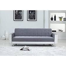 canapé convertible blanc et gris luxury canapé convertible 3 places 220x190x81 cm simili et