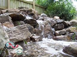 backyard landscape waterfalls u0026 streams near lexington kentucky ky