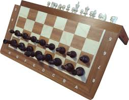 large inlaid magnetic chess