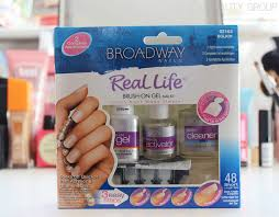 easy gel nails no uv light broadway nails real life brush on gel