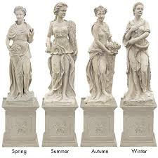 statue with the four goddesses of the seasons statue all four seasons statue