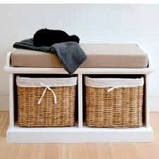 tetbury hallway storage bench with cushion quality white bench
