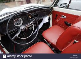volkswagen old cars old car volkswagen beetle interior vintage collection spot stock