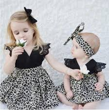 summer 2017 dresses leopard print baby clothes hair bow