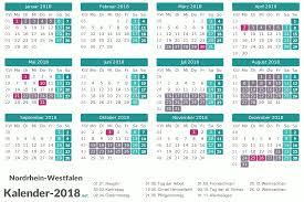 Kalender 2018 Hamburg Feiertage Ferien Nordrhein Westfalen 2018 Ferienkalender übersicht