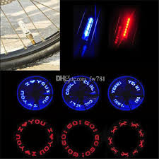 Light Words 2017 Bicycle Motorcycle Led Letters Wheel Tyre Lights With Words