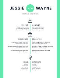 Infographic Resume Template Mint Green Icons Simple Infographic Resume Templates By Canva
