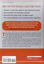 products of toyota company the toyota way 14 management principles from the world u0027s greatest