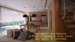 michaels residences 2 storey bungalow with attic and a pool