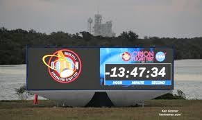 nasa premiers new countdown clock for s launch