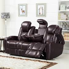 Leather Electric Reclining Sofa Barrel Studio Piccadilly Air Transforming Power Leather