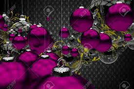 purple christmas ornaments abstract 3d generated illustration