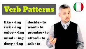 verb pattern of like inglese per italiani verb patterns ottima lezione per imparare l