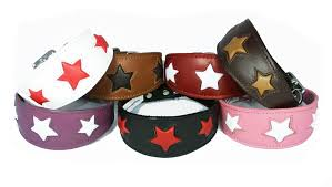afghan hound collars uk leather star shape greyhound whippet dog collar red with white