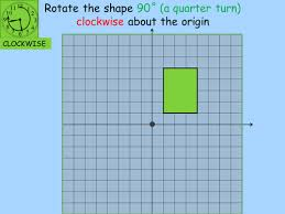 rotating a shape around a point whole lesson afl by