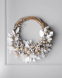 white wreath with jingle bells 44 white on white christmas