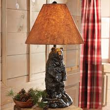 Blackforest Decor Standing Bear Table Lamp