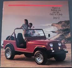 brown jeep cj7 renegade jeep cj renegade laredo original dealer sales brochure