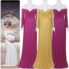 maternity evening dresses women shoulder photography maxi dress maternity