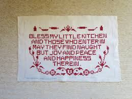 vintage kitchen motto sampler