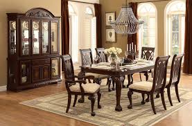 homelegance norwich leg dining table set beige fabric warm
